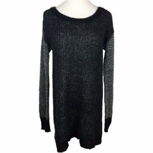 BCBGeneration Textured Sleeve Knit Tunic Sweater S
